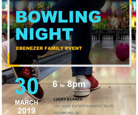 Family Ministries Bowling Night, March 30