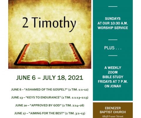 Training in Christ – New Sermon Series
